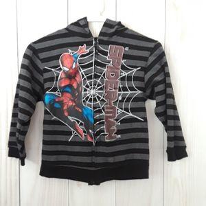 Spiderman Hooded Zip Up Jacket